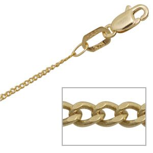 Image of Gold Necklace - Curb Chain 1.0mm x 45cm (1395345)
