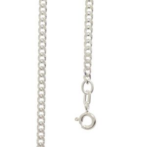 Image of Silver Necklace - Curb Chain 2.5mm x 45cm (1399745)