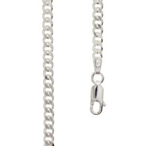 Image of Silver Necklace - Curb Chain 3.0mm x 40cm (1399840)
