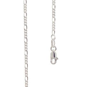 Image of Silver Necklace - Figaro 1+3 Chain 2.0mm x 50cm (1400550)