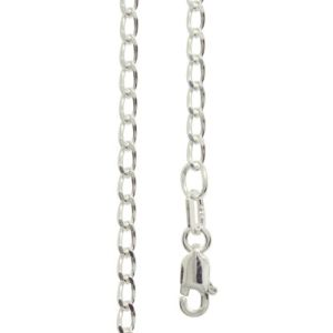 Image of Silver Necklace - Curb Chain Long 2.00mm x 55cm (1401555)