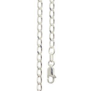 Image of Silver Necklace - Curb Chain Long 3.00mm x 50cm (1401650)