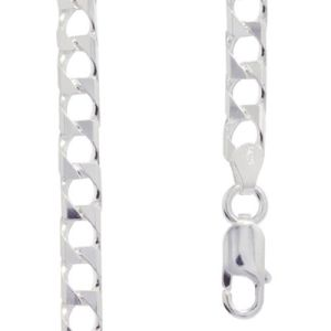 Image of Silver Necklace - Curb Chain Flat 45cm (1409045)