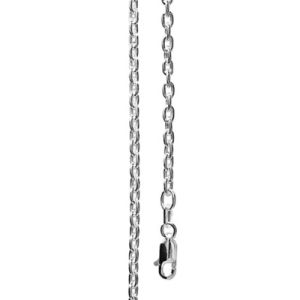 Image of Silver Necklace - Trace Chain Link 40cm (1410340)