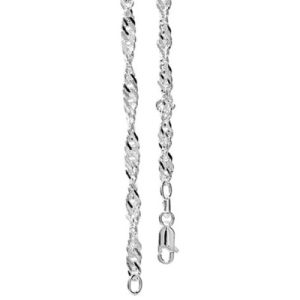 Image of Silver Necklace - Singapore Chain 55cm (1410455)