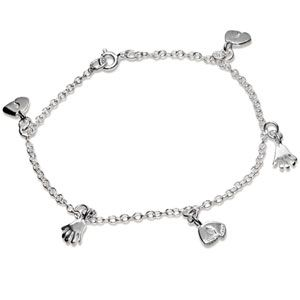 Image of Silver Anklet - Hands and Feet (1414424)
