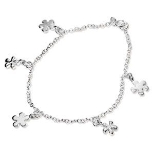 Image of Silver Anklet - Daisy Flower (1415424)