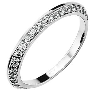 Image of Diamond White Gold Ring - Eternity Band (18W24998A55)