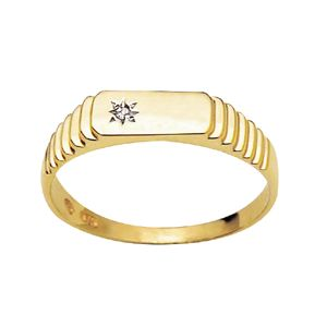 Image of Diamond Gold Ring - Men's Star (22701)