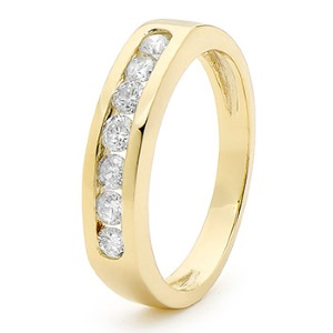 Image of Diamond Gold Ring - Eternity Channel (23374/C50)