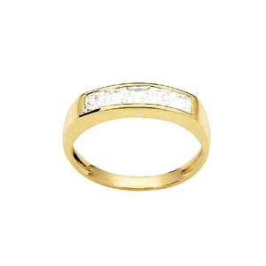 Image of Cubic Zirconia CZ Gold Ring - Channel Set (23475/CZ)
