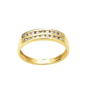 Image of Diamond Gold Ring - Eternity Double Channel (23514)