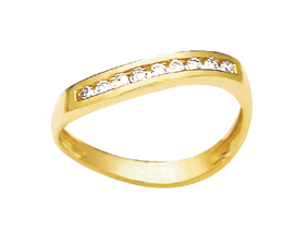 Image of Diamond Gold Ring - Channel (23520)