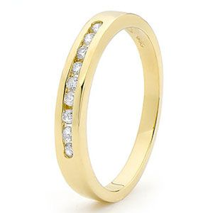Image of Diamond Gold Ring - Eternity Channel Setting (24518/B18)