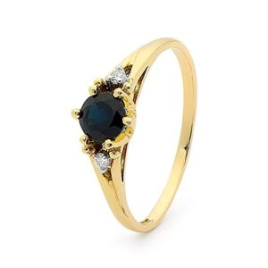 Image of Sapphire and Diamond Gold Ring - Coronet (25219/S)