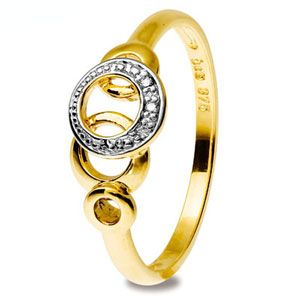 Image of Diamond Gold Ring - Circles (25321)