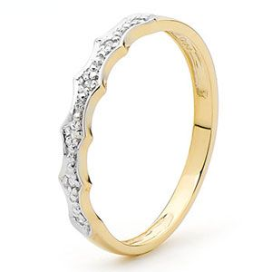 Image of Diamond Gold Ring - Eternity Fancy (25359)