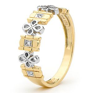 Image of Diamond Gold Ring - Fancy Petals (25391)