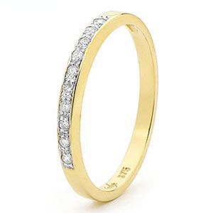 Image of Diamond Gold Ring - Eternity Elegant (25400/B10)