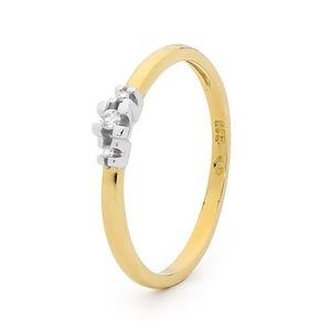 Image of Diamond Gold Ring - Trilogy Elegant (25484)