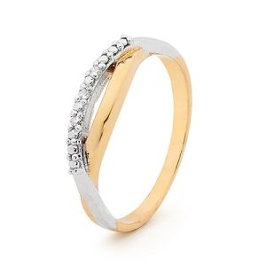 Image of Diamond Gold Ring - 2 Tone (25545)