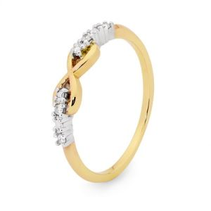 Image of Diamond 2 Tone Gold Ring - Infinity (25553)