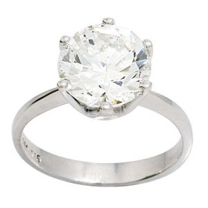 Image of Cubic Zirconia CZ Silver Ring - Cocktail (34952/CZ)