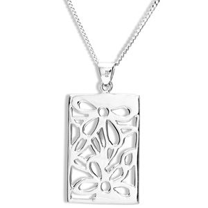Image of Silver Pendant - Flower (35138)