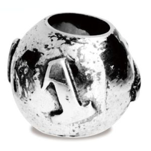 Image of Silver Charm - Lucky Number 1 Bead (35164)