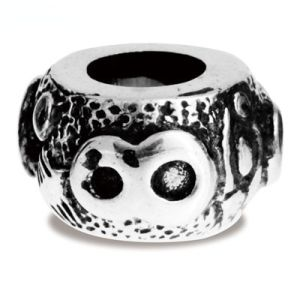 Image of Silver Charm - Lucky Number 8 Bead (35166)