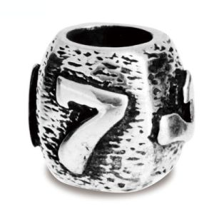Image of Silver Charm - Lucky Number 7 Bead (35167)
