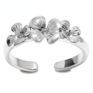Image of Silver Toe Ring - Flower (35274)