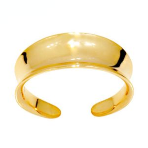 Image of Gold Toe Ring - Concave (44890)