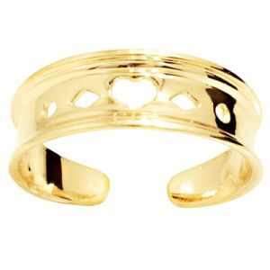 Image of Gold Toe Ring - Heart (44891)