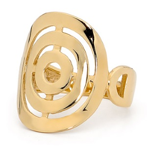 Image of Gold Ring - Circles (44996)