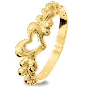 Image of Gold Ring - Heart (45211)