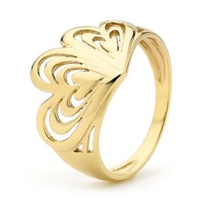 Image of Gold Ring - Heart to Heart (45409)