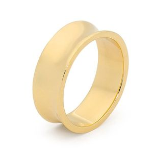Image of Gold Ring - Men's Concave Band (45500)