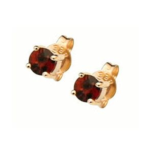 Garnet Gold Earrings - 2.5mm Studs (51441/GT25)