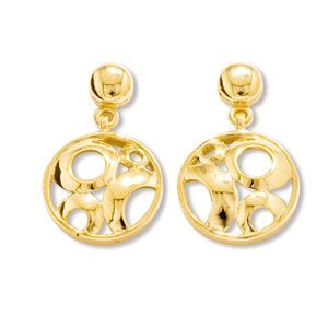 Image of Gold Earrings - Circles (55228)