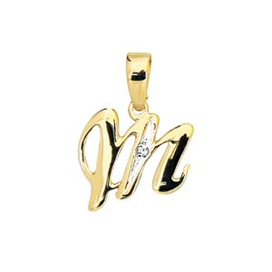 Image of Diamond Gold Pendant - M (61396/M)