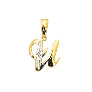 Image of Diamond Gold Pendant - U (61396/U)