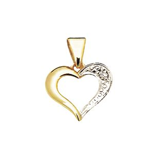 Image of Diamond Gold Pendant - Heart Set (61428)