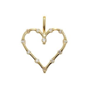 Image of Diamond Gold Pendant - Heart (64774)