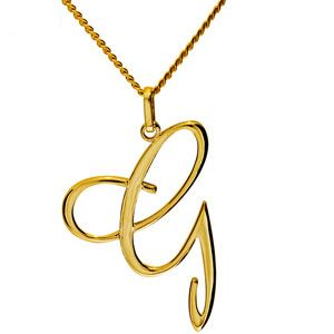 Image of Gold Pendant - G (65046/G)