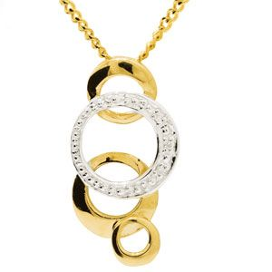 Image of Diamond Gold Pendant - Circles (65207)