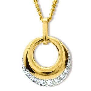 Image of Diamond Gold Pendant - Circle of Life (65249)