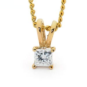Image of Diamond Gold Pendant .07ct (65505/B07)