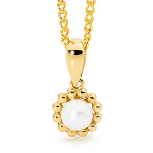 Image of Pearl Gold Pendant - Freshwater (65661/P)