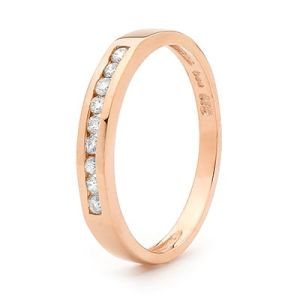 Image of Diamond Rose Gold Ring - Eternity Channel (R23260)